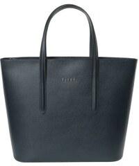 Shopper Elega Simply modrá Saffiano
