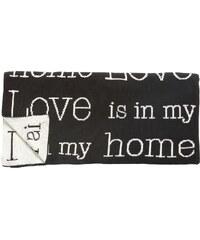 Hübsch Bavlněný pléd Love is in my home 130x200