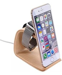 Samdi | Woodmade Birch iPhone and Apple Watch Charging Dock Stand