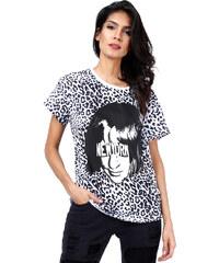 Lesara T-Shirt mit Leo-Print - S