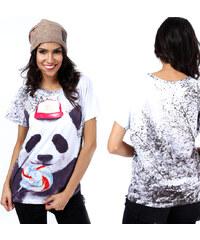 Lesara T-Shirt mit Panda-Print - S