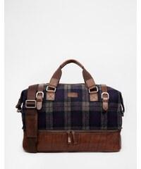 The British Belt Company British Belt Company - sac de week-end en laine à carreaux écossais - Bleu