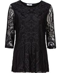 bpc bonprix collection Shirt-Tunika mit Spitze und 3/4-Ärmeln 3/4 Arm in schwarz für Damen von bonprix