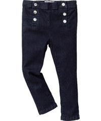 John Baner JEANSWEAR Skinny Jeans mit Knopfleiste, Gr. 80-134 in blau für Mädchen von bonprix