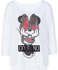 Disney T-shirt Mickey Mouse blanc manches mi-longues femme - bonprix