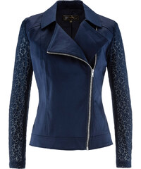 bpc selection Blazer avec manches en dentelle bleu femme - bonprix
