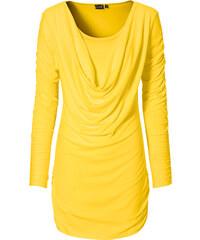 BODYFLIRT T-shirt manches longues jaune femme - bonprix