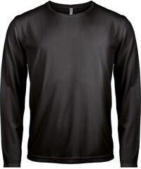 Sportovní tričko s dlouhým rukávem - Černá XS
