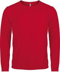 Sportovní tričko s dlouhým rukávem - Červená XS