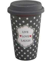 Cestovní hrnek Live Laugh Love Krasilnikoff