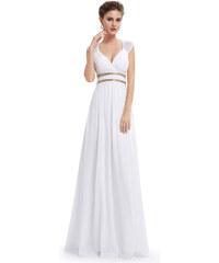 Bílé dlouhé večerní šaty Ever Pretty 8697 43d26a993ad