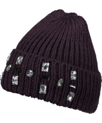 PIECES Mütze mit Ziersteinen
