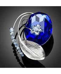 Brož Swarovski Elements Grand Bleu TP0014