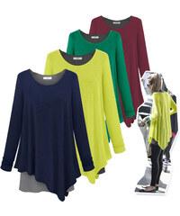 Lesara T-shirt à longues manches doublé et bicolore