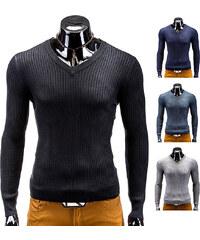 Lesara Pull en tricot côtelé avec col en V