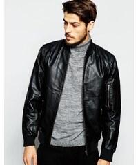 Produkt - Blouson aviateur imitation cuir - Noir