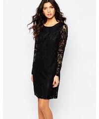 Y.A.S - Rhona - Langärmliges Kleid aus Spitze - Schwarz