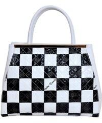 Kožená kabelka Gilda Tonelli 7380 ST černá / bílá