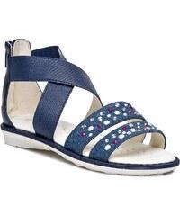 Sandály GEOX - J Sand Milk E J52D1E 0ASAJ C4002 M Modrá Tmavomodrá