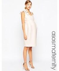 ASOS Maternity - Robe fourreau avec nœuds aux épaules - Rose