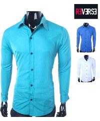 Re-Verse Slim-Fit-Business-Hemd - Blau - XXL