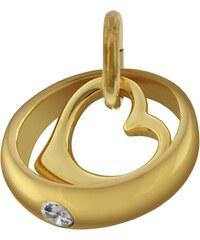 trendor Gold-Taufring mit Herz-Einhänger 78285