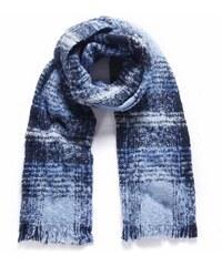 Zimní kostkovaná šála Kaytie Wu modrá