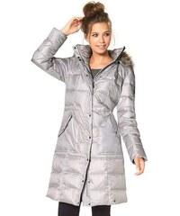 Zimní kabáty, prošívaný péřový zimní kabát AJC (vel.36 skladem) 32 stříbrná