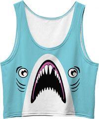 Mr. GUGU & Miss GO Crop Top Blue Shark