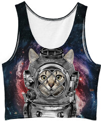 Mr. GUGU & Miss GO Crop Top Astronaut Cat