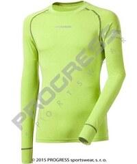 Progress Bambusové tričko Progrees - dlouhý rukáv (zelená)
