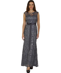 Cinderella šedé krajkové šaty