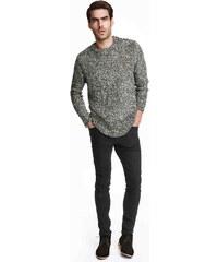 H&M Keprové kalhoty Skinny fit