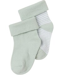 Noppies Unisex Baby Socken U Zoë stripe, 2er Pack, Gestreift