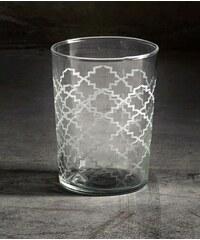 Tine K Home Designová sklenice s vypískovaným vzorem