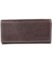 Dámská kožená peněženka tmavě hnědá Wild by Loranzo 942 {name}