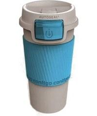 Contigo Designový dvoustěnný plastový termokelímek - bílá/mořská