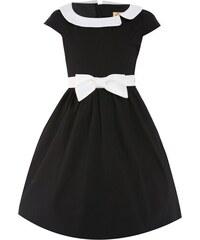 Retro šaty Lindy Bop Mini Chloe Black