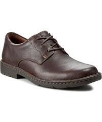 Halbschuhe CLARKS - Stratton Way 261025197 Brown Leather