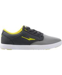 Lesara Kunstleder-Sneaker mit Neon-Details - Grau - 39