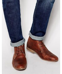 ASOS - Bottines Chukka en cuir - Marron