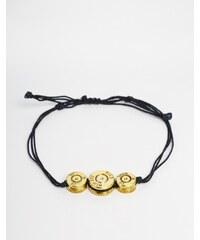Love Bullets Lovebullets - Bracelet avec trois breloques balles - Noir