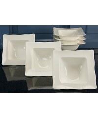 Müslischale Porzellan EVA (6 Stck.) CreaTable weiß