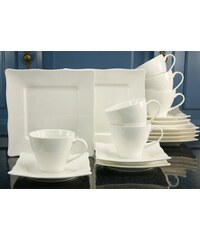 Kaffeeservice Porzellan EVA (18tlg.) CreaTable weiß