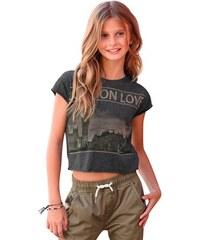 Buffalo Kurzarmshirt mit Frontdruck für Mädchen grau 128/134,140/146,152/158,164/170,176/182