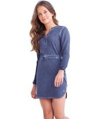 S.OLIVER RED LABEL JUNIOR RED LABEL Junior Kleid mit Spitzeneinsatz für Mädchen blau 128,134,140,146,152,158,164,170,176