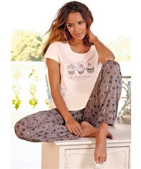 Pyjama im Allover-Cupcakedesign Vivance Dreams rosa 32/34,36/38,40/42,44/46
