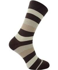 Pruhované ponožky - Hnědá 35-38