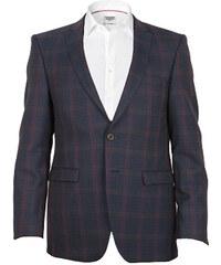 Edward Morris Sportovní pánské sako - modročervené, kostka