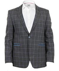 Edward Morris Sportovní pánské sako - šedé, kostka